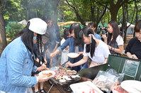 2016年度初の課外活動「お台場バーベキュー」