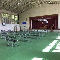 大子会場の卒業式準備風景