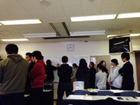大阪の『学び合い』交流会で大阪校をアピール