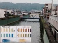 河川水質調査で生徒の居住地区を'理科'探訪