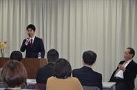 教育講演会で在校生・卒業生がスピーチ